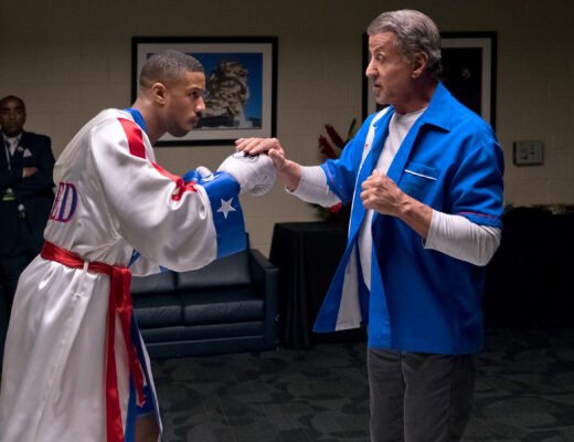 C2_08795_RC Michael B. Jordan stars as Adonis Creed and Sylvester Stallone as Rocky Balboa in  CREED II, a Metro Goldwyn Mayer Pictures and Warner Bros. Pictures film. Credit: Barry Wetcher / Metro Goldwyn Mayer Pictures / Warner Bros. Pictures © 2018 Metro-Goldwyn-Mayer Pictures Inc. and Warner Bros. Entertainment Inc. All Rights Reserved.