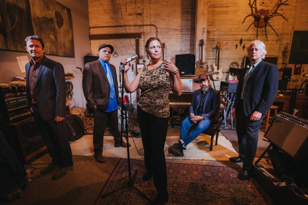 The Delines in their rehearsal studio, Sept 2018. Photo by Jason Quigley